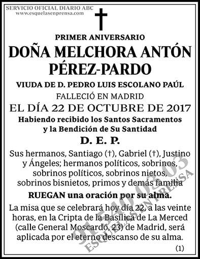 Melchora Antón Pérez-Pardo